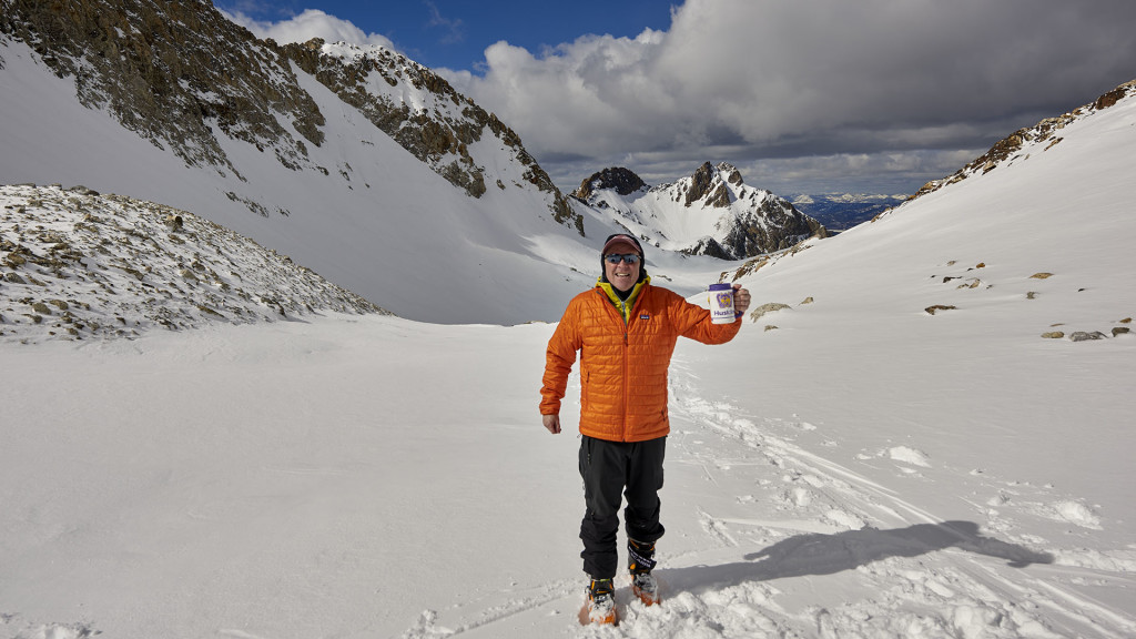 Jeff and Husky Mug Continue Their Travels Thompson Peak Winter 2015 DSC_3062