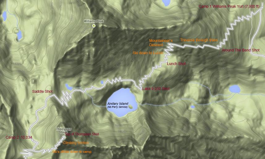 Williams Peak Hut to Thompson Peak