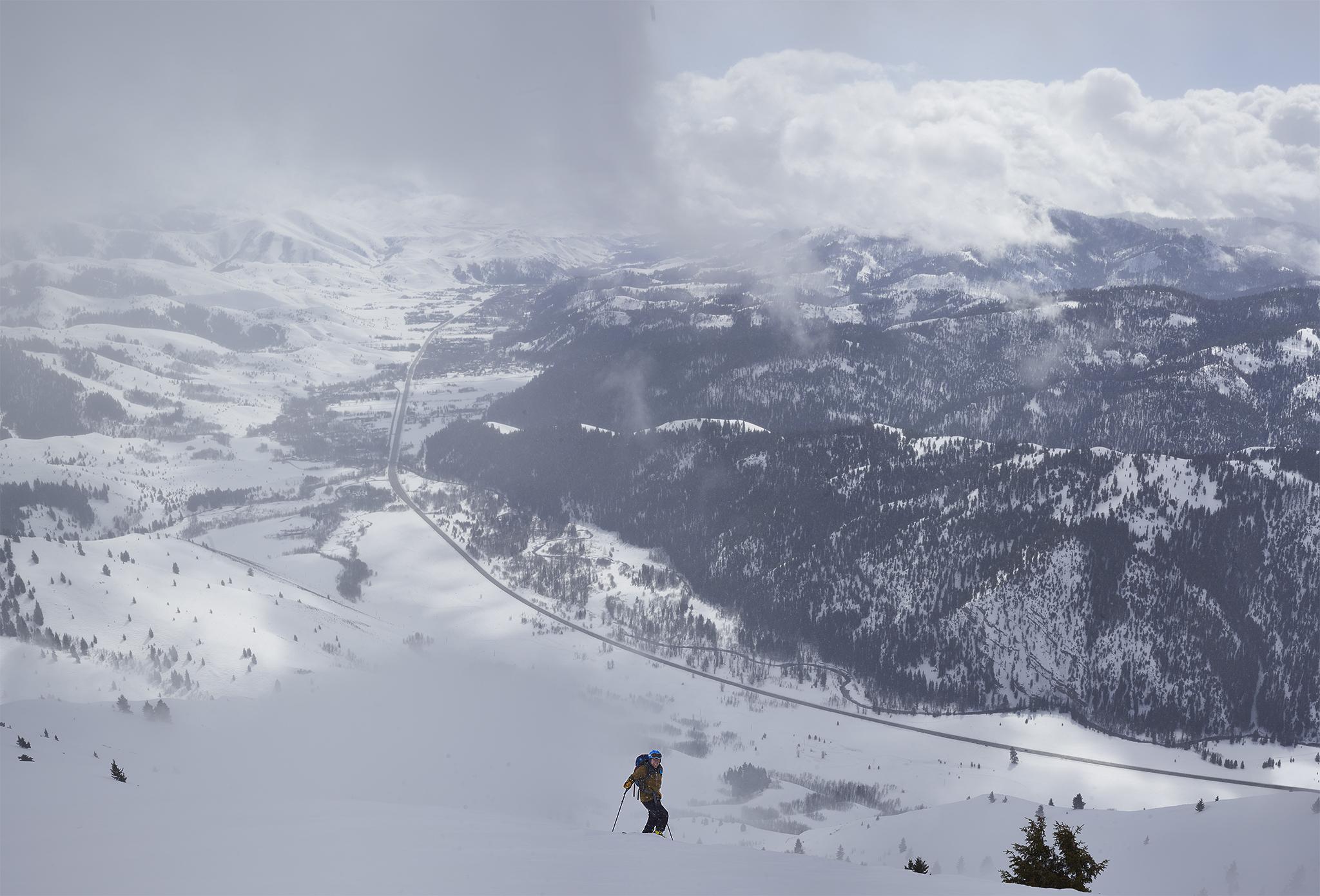 Kyle on Top Big Ski Boulders